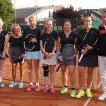 Britt Meyer-Sandberg, Sandra Gente, Claudia Itjen, Katrin Fröhlich, Karin Kobel-Holtmann, Tanja Glüsing, Trainer Michael Henning